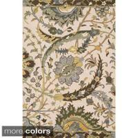 Hand-hooked Tessa Floral Multi Rug (7'10 x 11'0)
