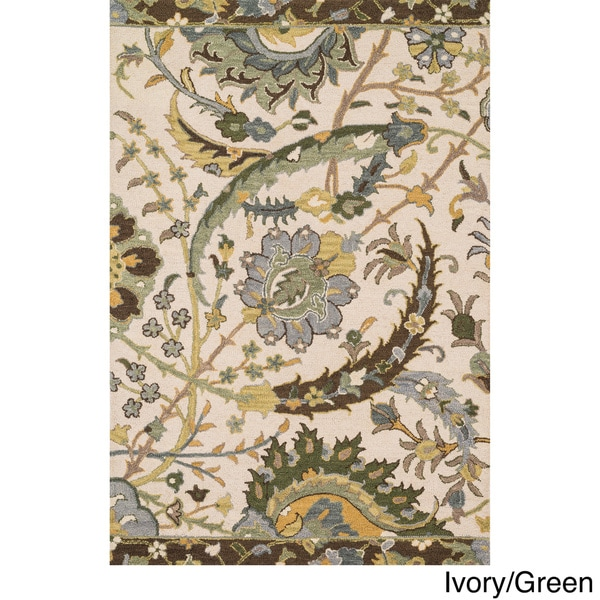 Hand-hooked Tessa Floral Multi Rug (7'10 x 11'0) - 7'10 x 11'