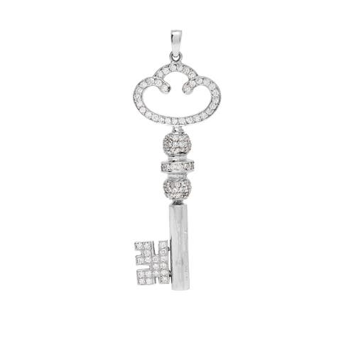 18k White Gold 1 1/2ct TDW Diamond Key Estate Pendant (H-I, SI1-SI2)