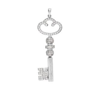Pre-owned 18k White Gold 1 1/2ct TDW Diamond Key Estate Pendant (H-I, SI1-SI2)