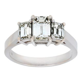 Pre-owned 18k White Gold 1 3/4ct TDW Three-stone Engagement Ring (J-K, VS1-VS2)|https://ak1.ostkcdn.com/images/products/9173659/P16349847.jpg?impolicy=medium