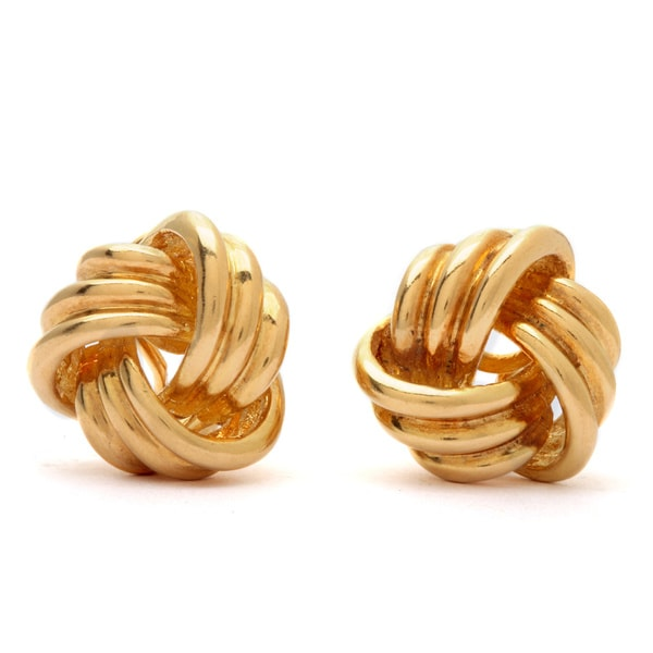 24c509992 Shop Pre-owned Tiffany & Co. 18k Yellow Gold Love Knot Earrings ...
