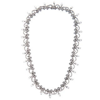 Pre-owned 18k White Gold 20ct TDW Fine Edwardian Diamond Necklace (I-J, SI1-SI2)