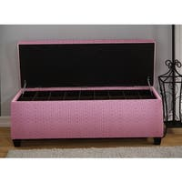 Sole Secret Pink Tower Shoe Storage Bench