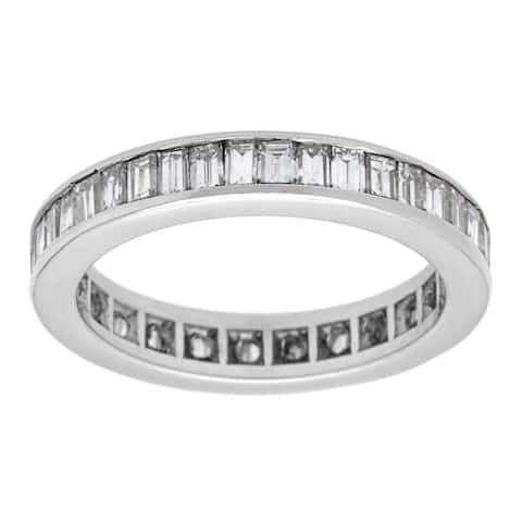 Pre-owned Platinum 2ct TDW Eternity Band Ring (G-H, VS1-VS2)