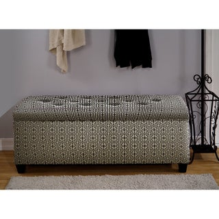 The Sole Secret Black/ White Shoe Storage Bench