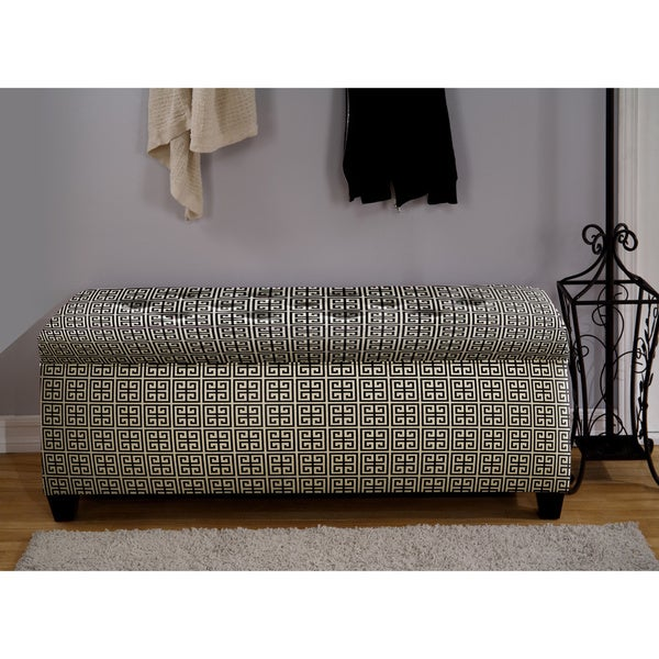 Shop The Sole Secret Black White Shoe Storage Bench Overstock 9173890