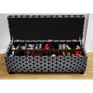 The Sole Secret Black Chain Shoe Storage Bench