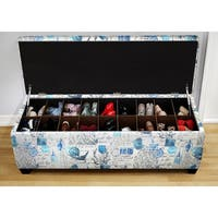The Sole Secret Artic Prime Blue Shoe Storage Bench