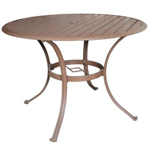 Panama Jack Island Breeze 42-inch Slatted Aluminum Round Dining Table