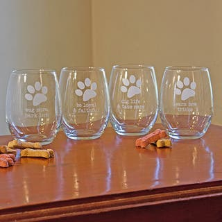 Dog Wisdom Stemless Wine Glasses (Set of 4)|https://ak1.ostkcdn.com/images/products/9174053/P16350199.jpg?impolicy=medium