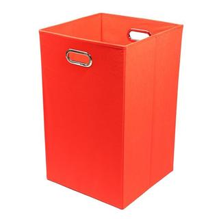 Bold Solid Red Folding Laundry Basket