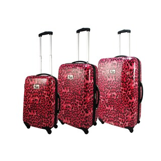 Chariot Leopard 3-piece Spinner Hardside Luggage Set