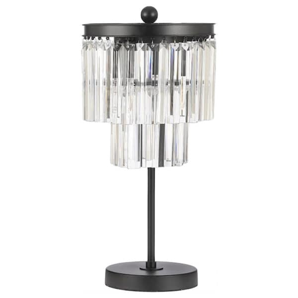 Shop Gallery Odeon Glass Fringe 3 Light Table Lamp Free Shipping