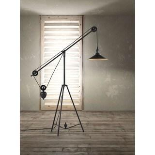 Antique Black Gold Jasper Adjustable Floor Lamp