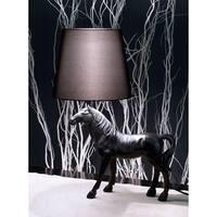 Coppola Black Polyresin Horse Table Lamp