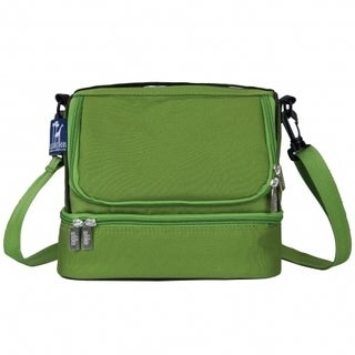 Wildkin Parrot Green Two Compartment Lunch Bag