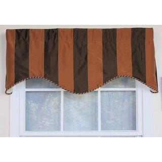 Pascal Faux Silk Stripe Cornice Window Valance