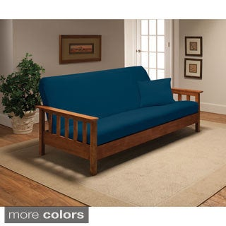 stretch jersey futon slipcover  more options available  futon covers for less   overstock    rh   overstock