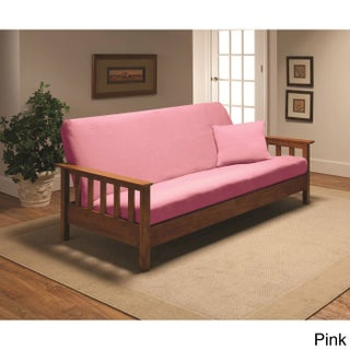 Stretch Jersey Futon Slipcover (Option: Pink)