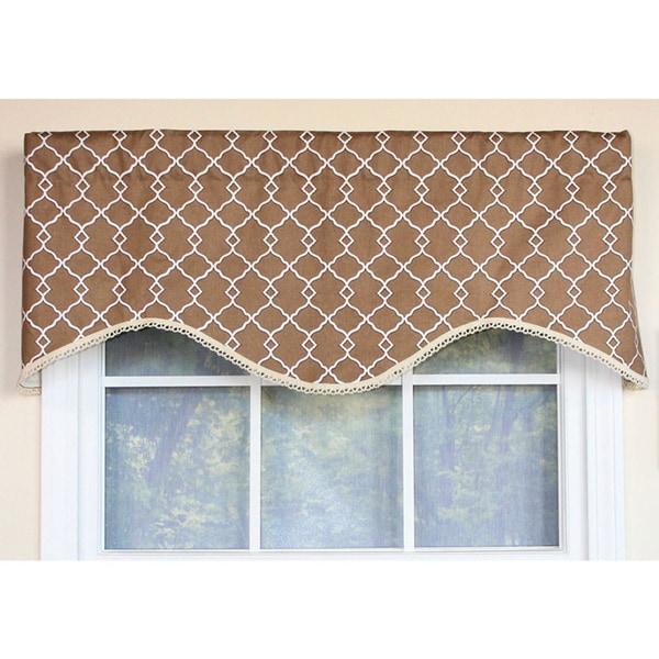 cornice window treatments. Chippendale Lattice Cafe Cornice Window Valance Treatments