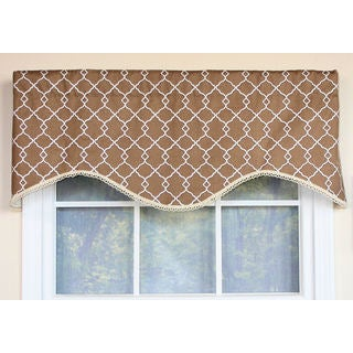 Chippendale Lattice Cafe Cornice Window Valance