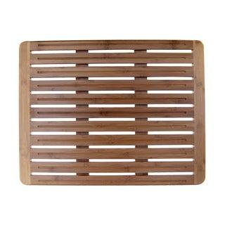 Natural Bamboo 20 x 26 Wood Nonskid Bath Mat