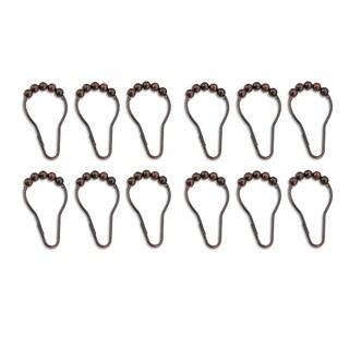 Metal Shower Curtain Roller Hooks (Set of 12)