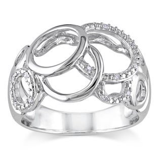 Miadora Sterling Silver Diamond Accent Ring