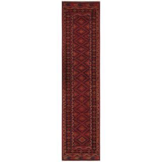 Herat Oriental Afghan Hand-knotted 1940s Tribal Balouchi Wool Runner (1'11 x 8'9)