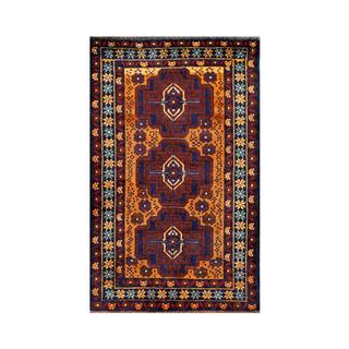 Herat Oriental Afghan Hand-knotted 1950s Semi-antique Tribal Balouchi Wool Rug (2'9 x 4'6)