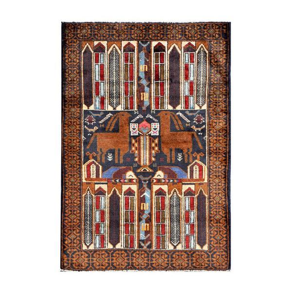 Handmade Herat Oriental Afghan 1950s Semi-antique Tribal Balouchi Wool Rug (Afghanistan) - 2'7 x 3'10