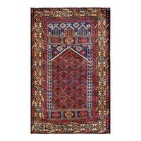 Handmade Herat Oriental Afghan 1960s Semi-antique Tribal Balouchi Wool Rug - 2'9 x 4'5 (Afghanistan)