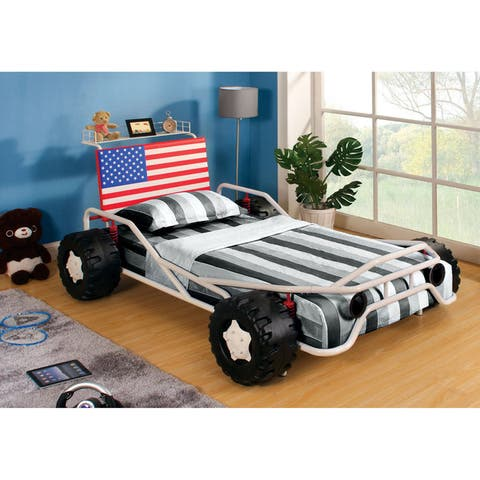 Furniture of America Vyd Novelty White Twin Youth Bed