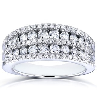 Annello 10k White Gold 1ct TDW Diamond Band (G-H, I1-I2)