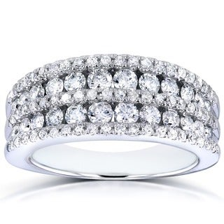 Annello by Kobelli 10k White Gold 1ct TDW Diamond Band (G-H, I1-I2)
