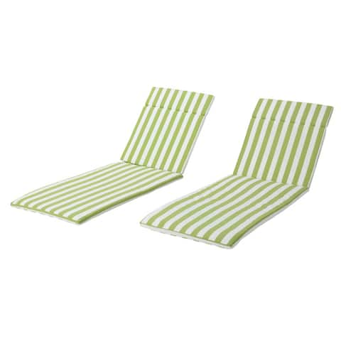 """Salem Outdoor Chaise Lounge Cushions (Set of 2) (Cushions Only) by Christopher Knight Home - 79.25""""L x 27.50""""W x 1.50""""H"""