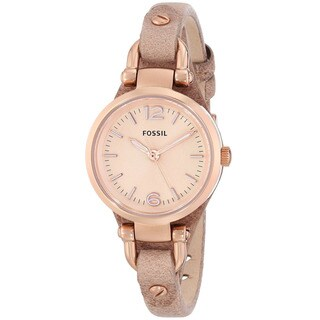 "Fossil Women's ES3262 ""Georgia"" Mini Three Hand Sand Leather Watch"