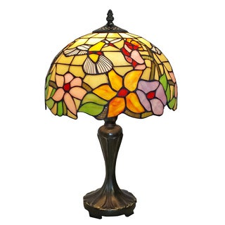 Tiffany Style Hummingbird Design 19-inch Table Lamp