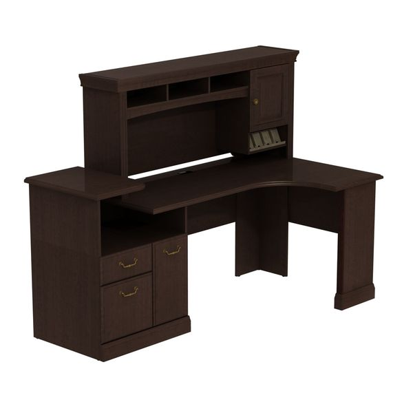 Bbf Syndicate Expandable Corner Workstation With Hutch