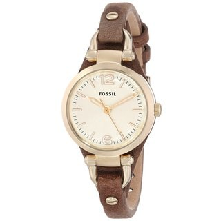 Fossil Women's ES3264 Georgia Mini Brown Leather Watch