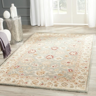 Safavieh Antiquity Grey Blue/ Beige Rug (11' x 15')