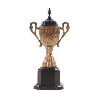 Large Wood/ Brass Decorative Trophy