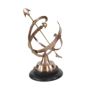 Brass Armillary on Wooden Base
