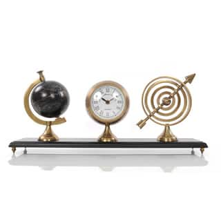 Armillery/ Clock and Globe On Wood Base https://ak1.ostkcdn.com/images/products/9176528/P16352284.jpg?impolicy=medium