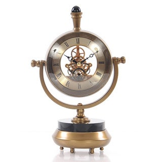 19th Century-inspired Brass Table Clock