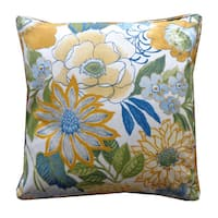 Suave Yellow Floral 20x20-inch Pillow