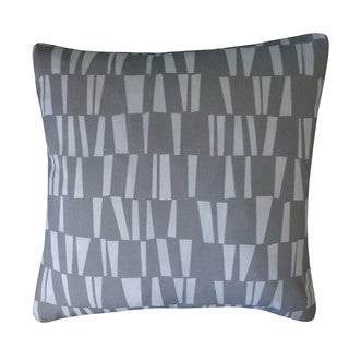 Angles Grey Geometric 20x20-inch Pillow