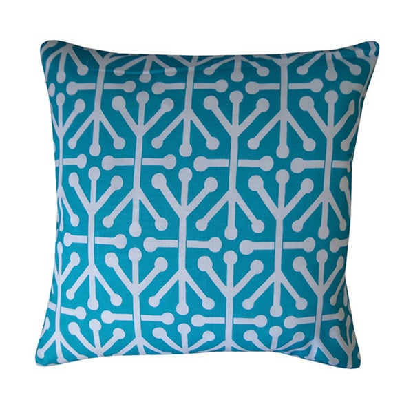 "Handmade Connect Teal Geometric Pillow - 20"" x 20"""