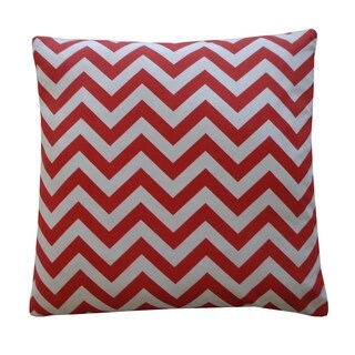 Red Chevron 20x20-inch Pillow
